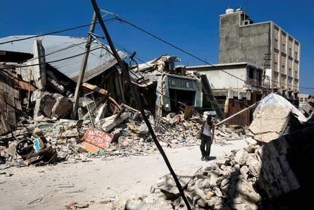 Centrum af Porte-au-Prince efter jordskælvet