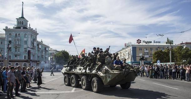 Pro-russiske militser i Luhansk