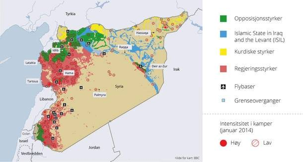 syrien kort