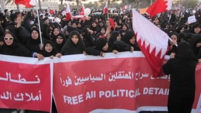 Demonstranter i Bahrain kræver, at politiske fanger frigives