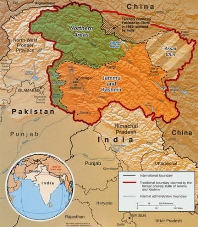 Inddelingen af Kashmir