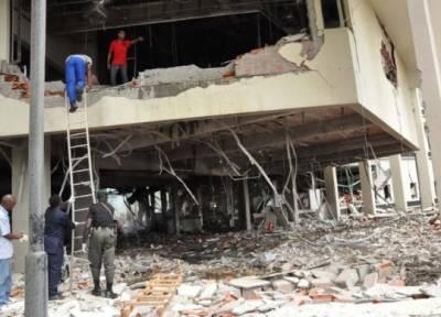 FN-kontoret i Abuja efter en bilbombe er eksploderet