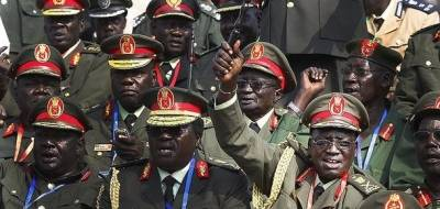De militære ledere i Sydsudan samlet i 2011