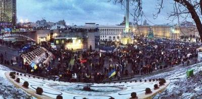 Demonstration på Maidan-pladsen