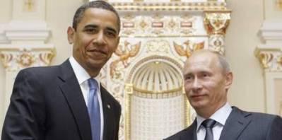 Barack Obama og Vladimir Putin