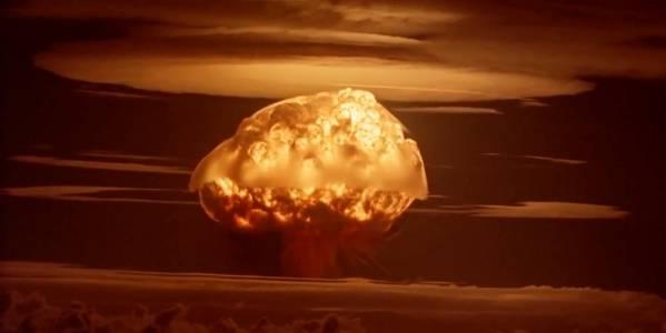 En prøvesprængning af en atombombe. Foto: Flickr