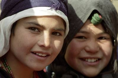 Unge indbyggere i Maslakh-lejren for internt fordrevne. Foto: UN Photo/Eskinder Debebe