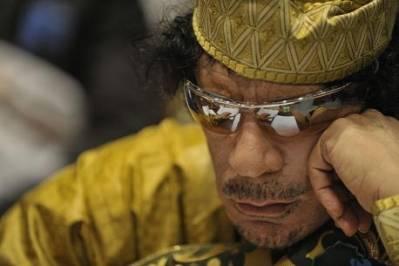 Muammar Gaddafi var ved magten i Libyen fra 1969-2011