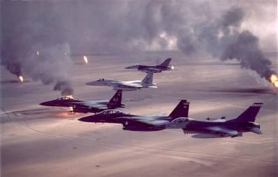 Den USA-ledede militæroperation over Kuwait og Irak under Golfkrigen 1991. Foto: US Air Force/Flickr.